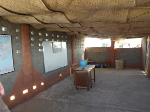 The inside of the classroom ready