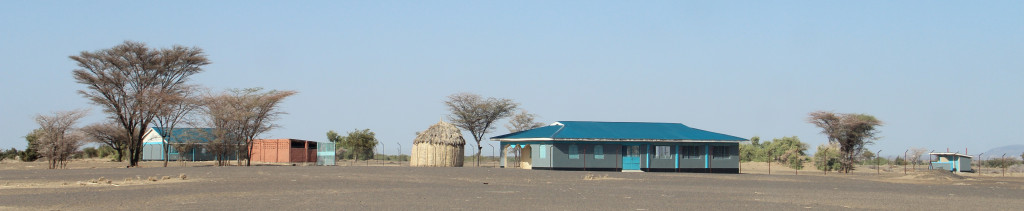 The new primary school at Lokwar Ankhaleso with the EJOK classroom at its centre